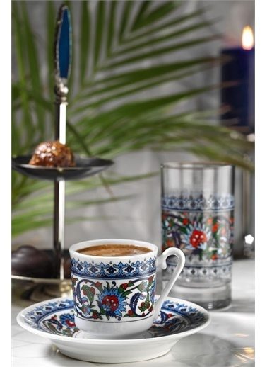 Kütahya Porselen Kütahya Porselen Topkapı Fincan Takımı 12 Parça Renkli